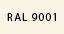 Cremeweiß RAL 9001